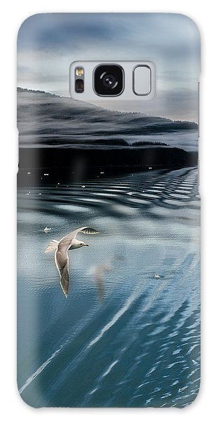 Journey With A Sea Gull Galaxy Case by Gary Warnimont