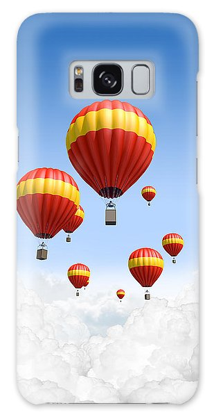 Hot Air Balloons Galaxy Case -  Joy Above The Clouds by Allan Swart