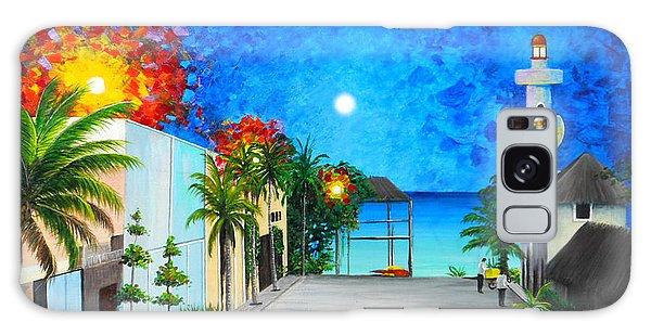 Light House Playa Del Carmen Galaxy Case by Angel Ortiz