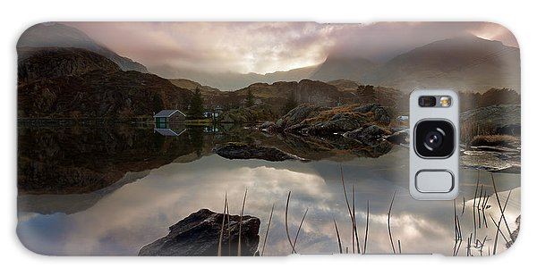 Llyn Ogwen Sunset Galaxy Case by Beverly Cash