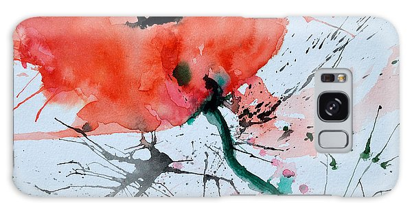 Lonely Poppy Galaxy Case by Ismeta Gruenwald