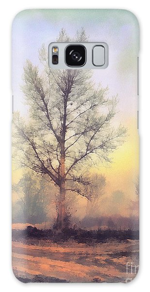 Lonely Tree Galaxy Case by Odon Czintos