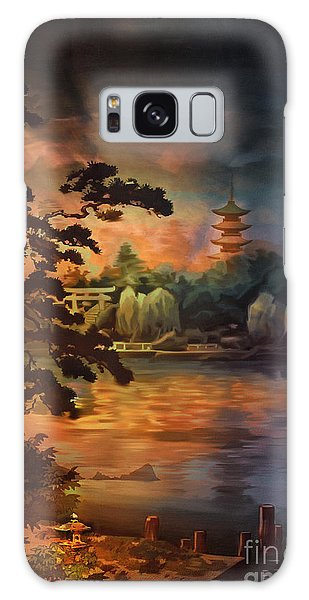 Magic Of Japanese Gardens. Galaxy Case