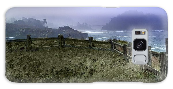 Mendocino Cliff Side Foggy Day   Galaxy Case