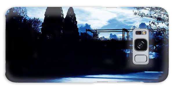 Montlake Bridge In Seattle Washington At Dusk Galaxy Case