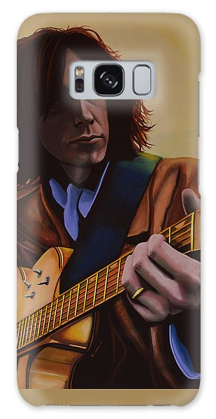 Neil Young Galaxy S8 Case -  Neil Young Painting by Paul Meijering