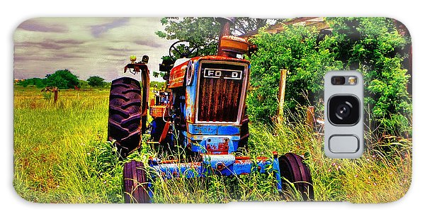 Old Ford Tractor Galaxy Case by Savannah Gibbs