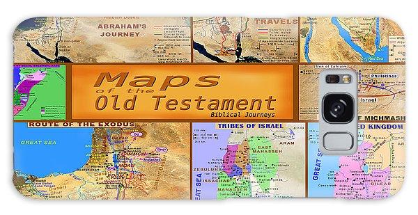 Old Testament Maps Galaxy Case by Bob Pardue