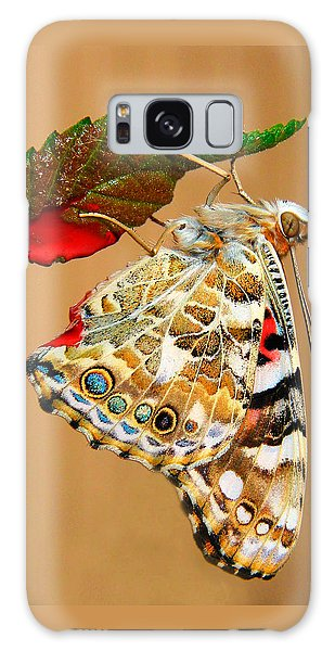 Painted Lady Butterfly Galaxy Case by David and Carol Kelly