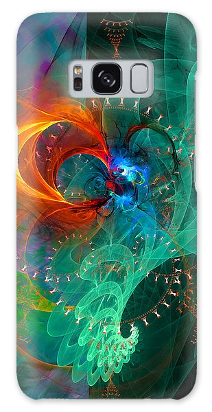 Parallel Reality - Colorful Digital Abstract Art Galaxy Case