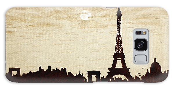 Paris Under Moonlight Silhouette France Galaxy Case