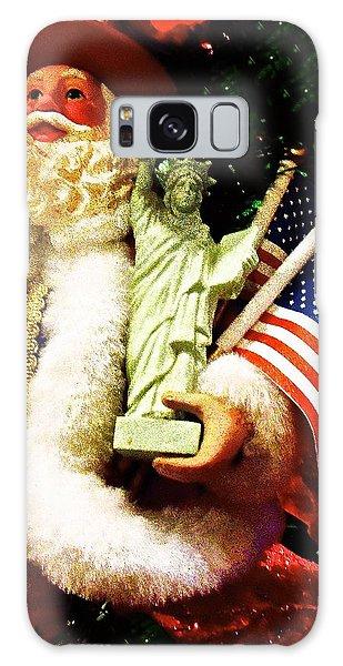 Patriotic Santa Galaxy Case