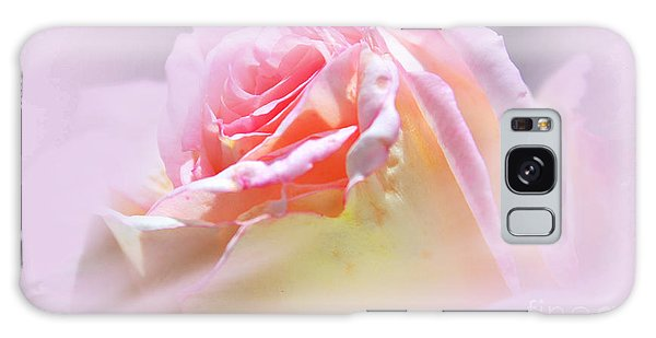 Peaceful Pink Rose Haze Galaxy Case by Judy Palkimas