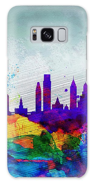 Philadelphia Watercolor Skyline Galaxy Case by Naxart Studio
