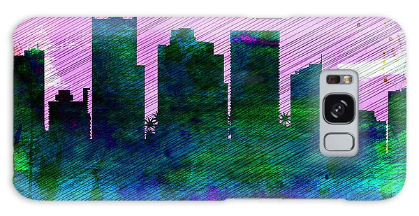 Phoenix City Skyline Galaxy Case