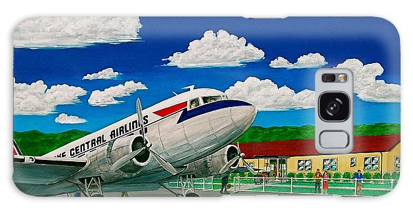 Portsmouth Ohio Airport And Lake Central Airlines Galaxy Case by Frank Hunter