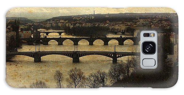Prague Landscape With Vltava River Galaxy Case