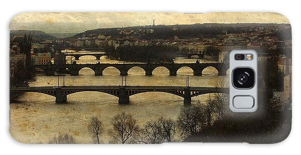 Vintage Prague Vltava River 1 Galaxy Case