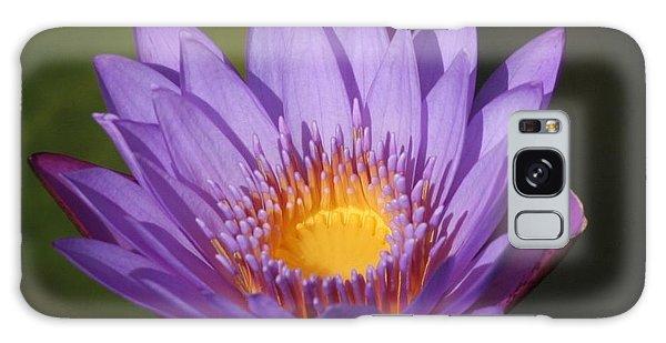 Purple Water Lily Galaxy Case