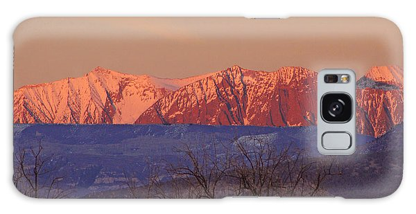 Radiant Ragged Mountain Evening Co II Galaxy Case
