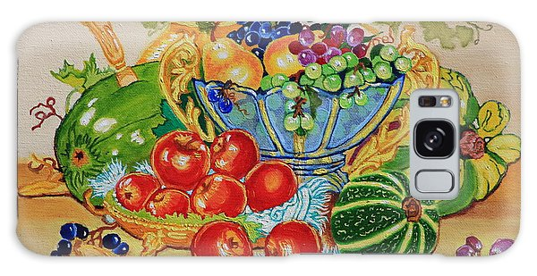 Red Apples And  Grapes Oil Painting Galaxy Case by Johanna Bruwer