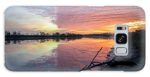 River Glows At Sunrise Galaxy Case by Leticia Latocki