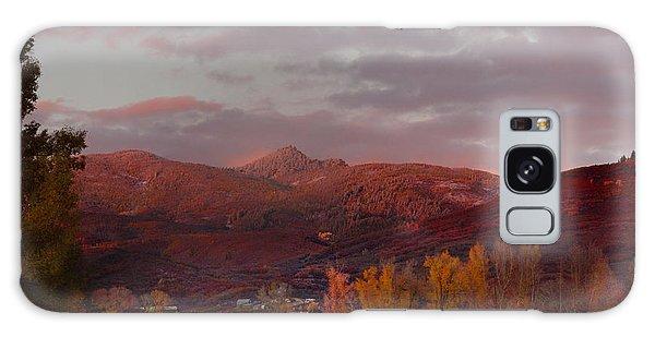 Rocky Peak Autumn Sunset Galaxy Case by Daniel Hebard