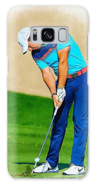 Rory Mcilroy Plays His Second Shot On The Par 4 Galaxy Case