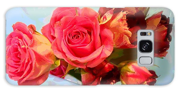 Roses 4 Lovers  Galaxy Case by Rogerio Mariani