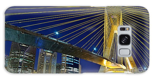 Sao Paulo's Iconic Cable-stayed Bridge  Galaxy Case