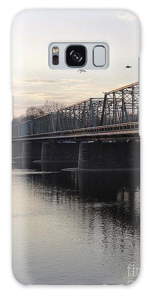 Gulls At The Bridge In January Galaxy Case