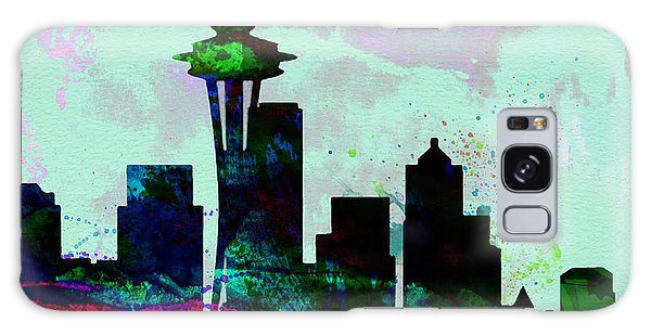 Seattle City Skyline Galaxy Case by Naxart Studio
