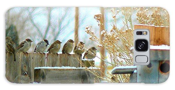 7 Winter Sparrows Galaxy Case