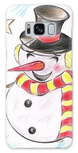 Snowmans  Stardom Galaxy Case by Teresa White