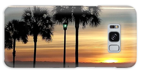 Sunrise Beyond Carolina  Palms Galaxy Case