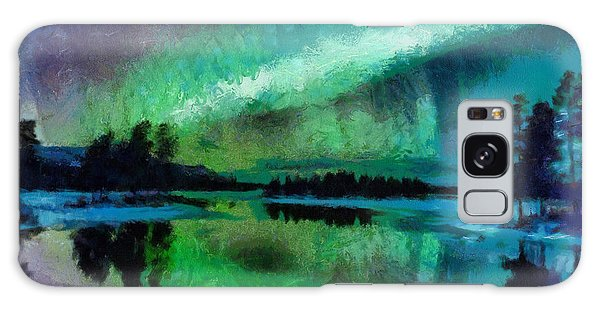Sunset In Lapland Aurora Borealis Galaxy Case