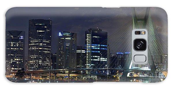 Supermoon In Sao Paulo - Brazil Skyline Galaxy Case