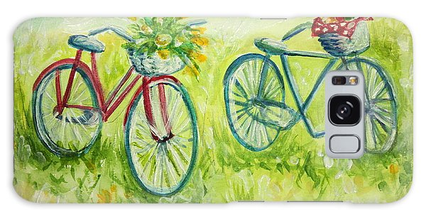 Sweet Bike Ride Picnic Galaxy Case by Elizabeth Robinette Tyndall
