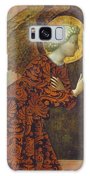 Annunciation Galaxy Case -  The Archangel Gabriel by Tommaso Masolino da Panicale