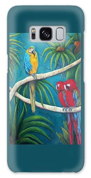 Three Is A Crowd,macaws Galaxy Case