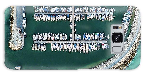 Docked Boats Galaxy Case - @ Tlv Marina by Ofer Maor