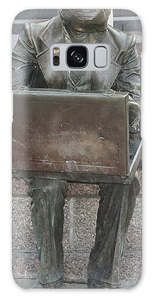 Wall Street Memorial Statue Galaxy Case by John Telfer