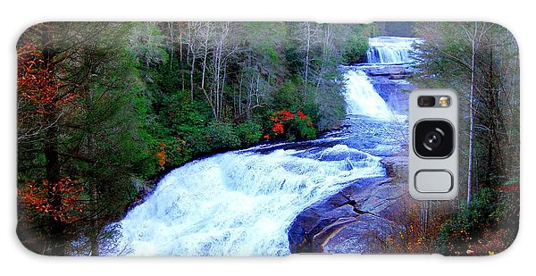 Waterfall At Dupont Forest Nc 2 Galaxy Case by Annie Zeno