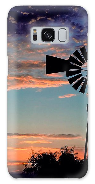 Windmill At Dawn Galaxy Case by David and Carol Kelly