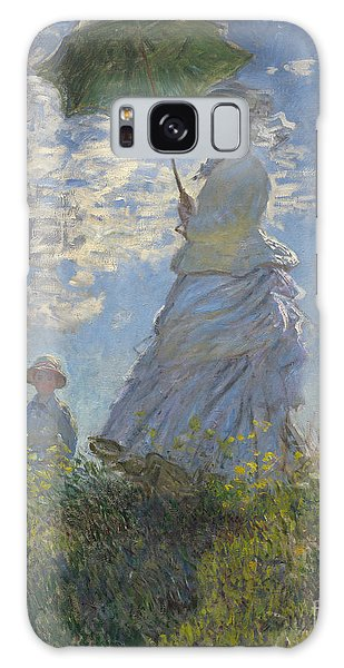 Parasol Galaxy Case -  Woman With A Parasol Madame Monet And Her Son by Claude Monet