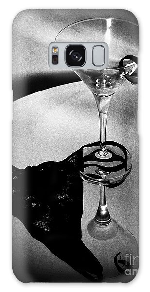 Martini Glass Charm Galaxy Case by Linda Bianic
