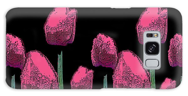 010 Hot Pink Tulips 2a Galaxy Case