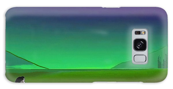 011 - Moon River Galaxy Case by Irmgard Schoendorf Welch