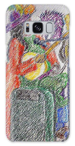 03162015 Digital Pastel Street Music Person Galaxy Case