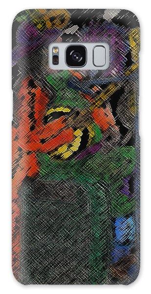 04142015 Digital Color Pencil Street Musican New Orleans Galaxy Case